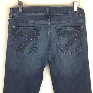 7FAM | Dojo Rhinestone Embroidered Jeans